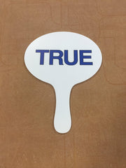 True False Yes No Voting paddles
