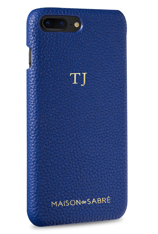 iphone 7/8 plus phone case- blue- perspective