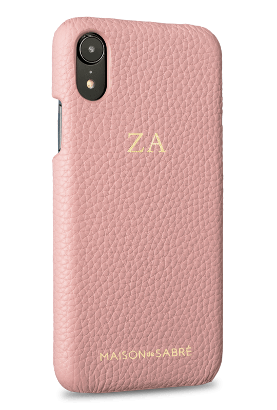 iphone xr phone case- pink- perspective