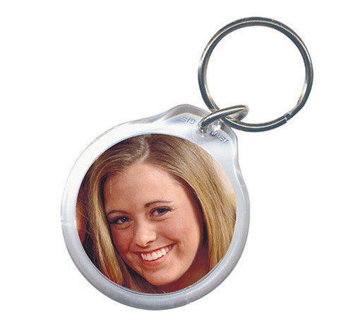 Small Round Photo Keyring 41mm