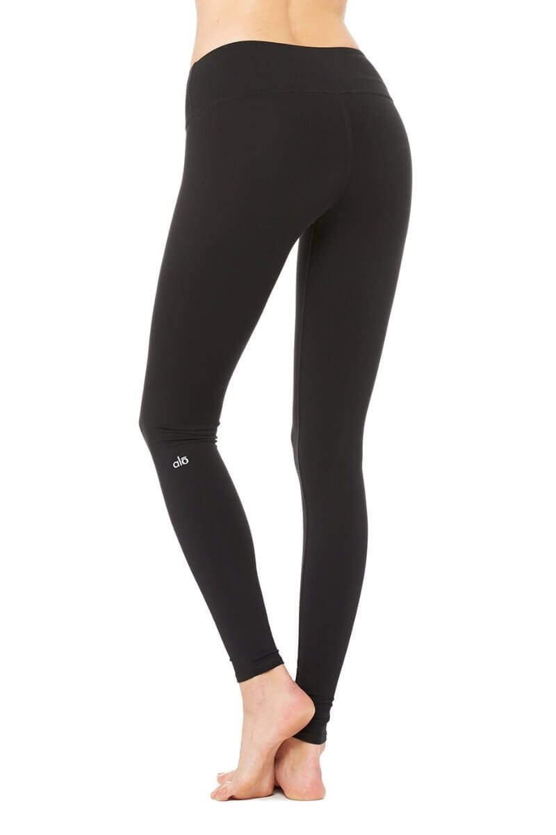 SEA YOGI Airbrush legging in Black by Alo, Yoga Shop in Palma de Mallorca, back