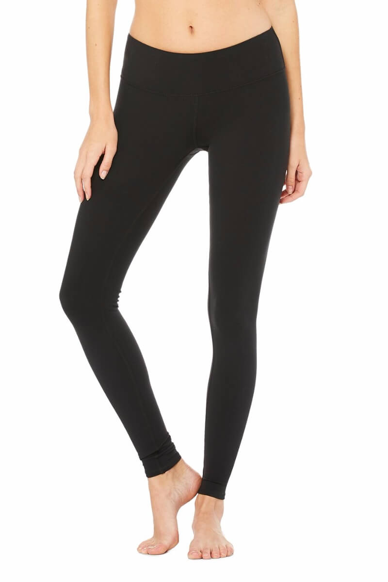SEA YOGI Airbrush legging in Black by Alo, Yoga Shop in Palma de Mallorca, Front
