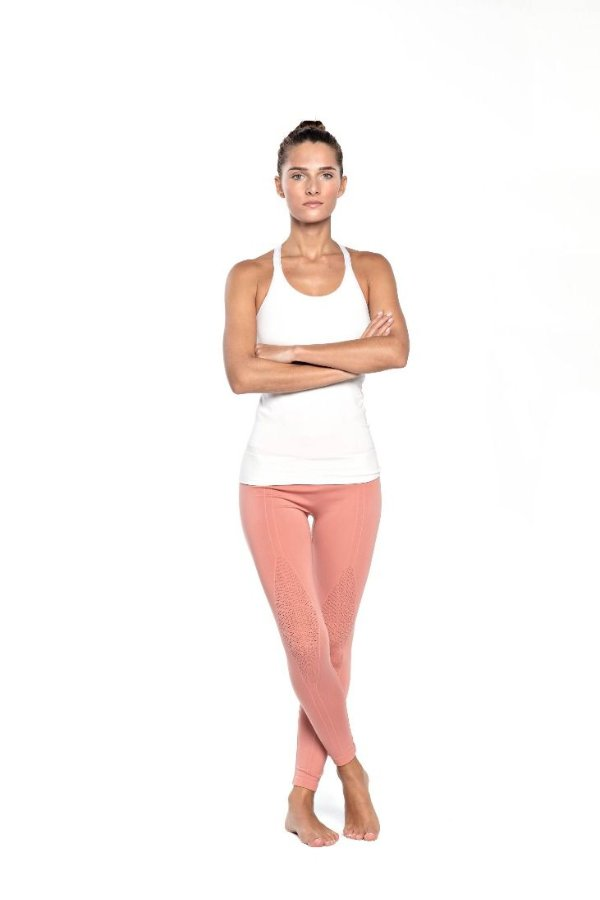 SEA YOGI // Bamboo T-string Top in pure white from Run & Relax, front