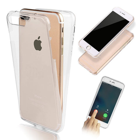 TPU 360 Degree Shockproof Silicone Full Body cover Clear TPU Case For Apple iPhones 5, 6 & 7