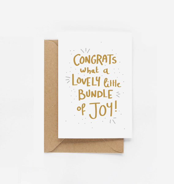 Congrats What A Lovely Little Bundle Of Joy Card