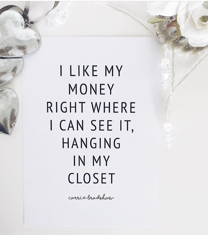 Carrie Bradshaw Quote - A4 Print
