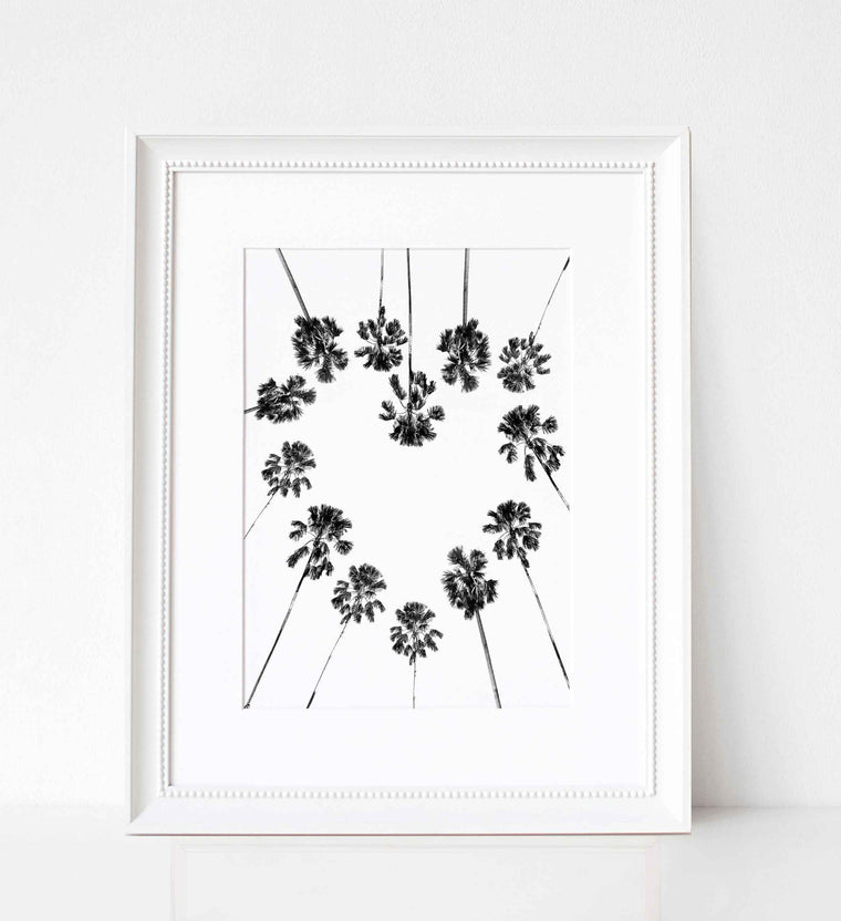 Palm Tree Heart Print - Various Sizes
