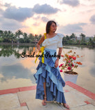 Flamenco Skirt & Ruffle Top - IW00303