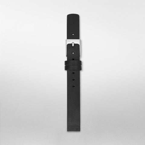 12mm Standard Leather Watch Strap, Black