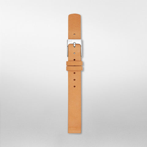 12mm Standard Leather Watch Strap, Tan