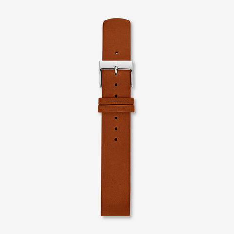 16mm Interchangeable Leather Strap, Cognac