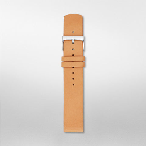 20mm Standard Leather Watch Strap, Tan