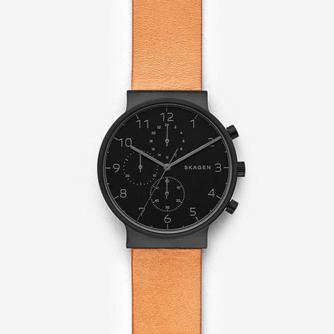 Ancher Leather Chronograph