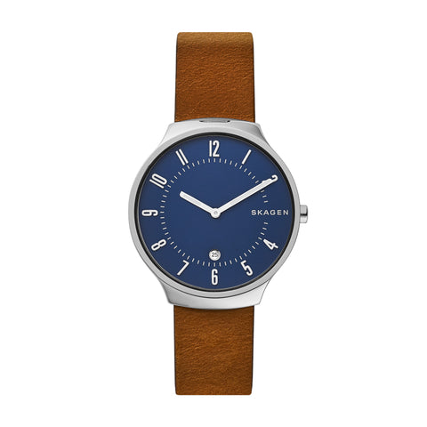 Grenen Slim Brown Leather Watch