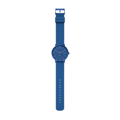 Aaren Kulør Blue Silicone 41mm Watch