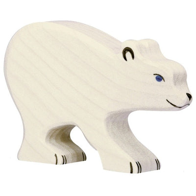 Holztiger Wooden Toys - Polar Bear Small, head down