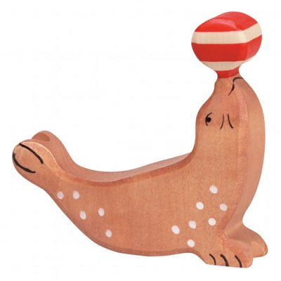 Holztiger Wooden Toys - Seal with Ball