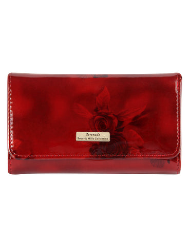 Cherry Rose Medium Leather Wallet with RFID- Gold Fittings