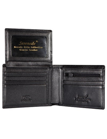 Caesar Men's Billfold Leather Wallet with RFID- Grain Finish