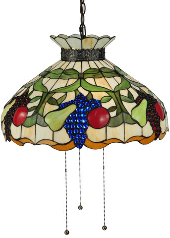 "Modern Farmhouse Ceiling Lights Meyda 132674 - 20""W Fruit Pendant Light"