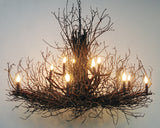 Wish Designs USA Briarwood Elite Hickory Large Twig Branch Chandelier