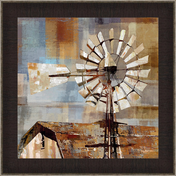 Windmill Wall Art 14.5 x 14.5 inch framed size (approximately)