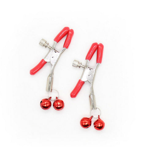 Red Colored Bell Nipple Clamps