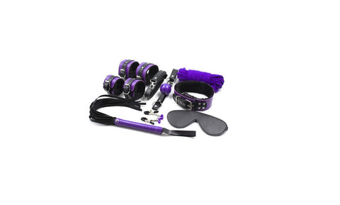 Purple Black Beginner's Bondage Set