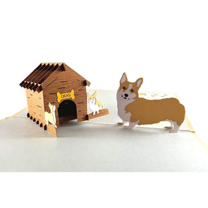 Mama Corgis N Puppies 3D Pop up Greeting Card