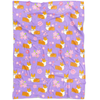 """Cherry Blossom"" Corgi Fleece Blanket"