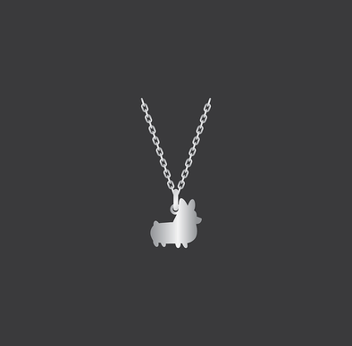 PREORDER: Corgi Things Necklace | Sterling Silver