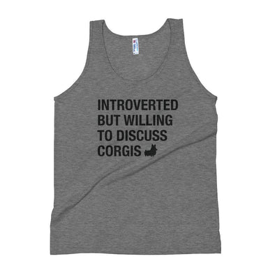 """Introverted"" Corgi Tank Top"
