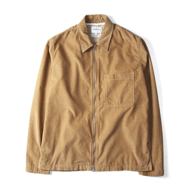Norse Projects Jens Cord Zip Shirt Camel