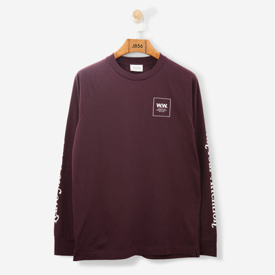 Wood Wood Han L/S T Shirt Burgundy