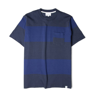 Norse Projects Johannes Block Stripe Tee Navy/Navy