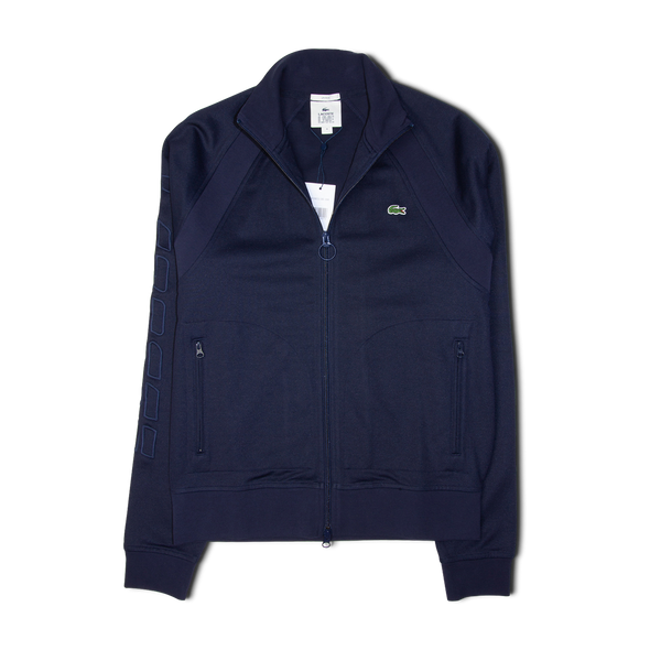 Lacoste LIVE Graphic Embroidery Resistant Knit Zip Jacket Navy