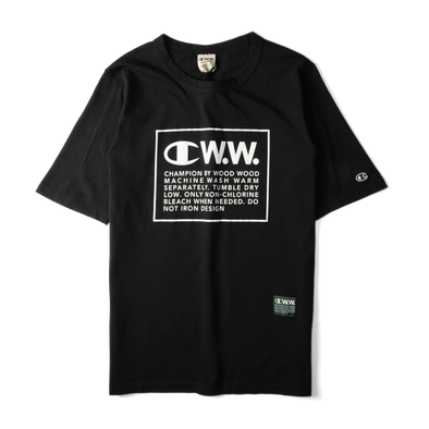 Champion X Wood Wood Box Logo Tee Black