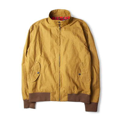 Fred Perry Reissues Waxed Harrington Jacket Tobacco