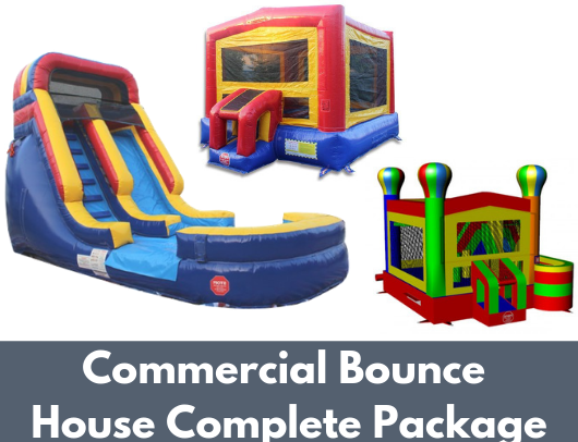 Commercial Bounce House Complete Package (W-082, B-311, C-136) image 2