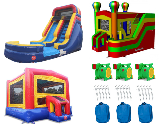 Commercial Bounce House Complete Package (W-082, B-311, C-136)