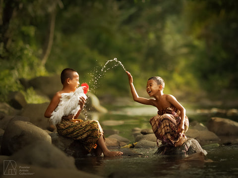 Kids and Their Rooster - Rarindra Prakarsa