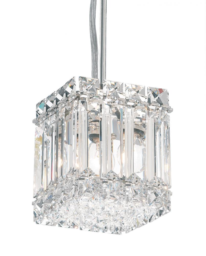 Quantum 2 Light 110V Pendant in Stainless Steel with Clear Spectra Crystal 2245