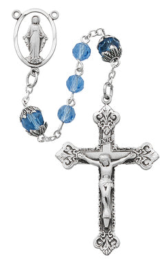 Blue Capped Tincut Rosary - St. Mary's Gift Store