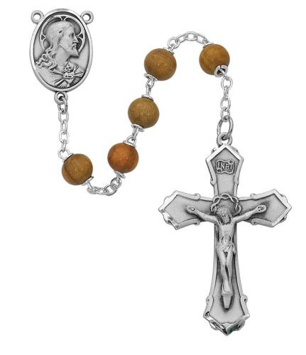 7mm Olive Wood Rosary - St. Mary's Gift Store