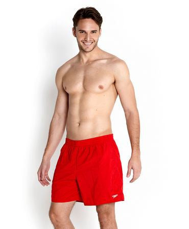 "Speedo Mens Solid Leisure 16"" Watershort Red - clickswim.com"