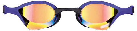 Arena Adult Racing Goggles Cobra Ultra Mirror Yellow Revo/Blue