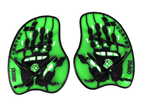 Arena Training Vortex Evolution Hand Paddle Acid Lime/Black