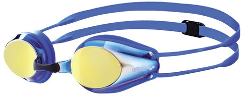 Arena Junior Racing Goggles Tracks Mirror Blueyellowrevo/Blue/Blue