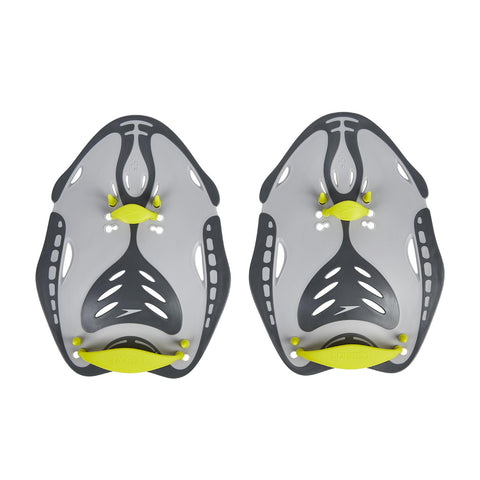Speedo Adult Unisex Equipment Biofise Power Paddle Grey Yellow