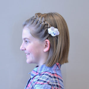 hair tutorial: short hair headband braid